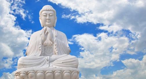 white buddha dreamstime