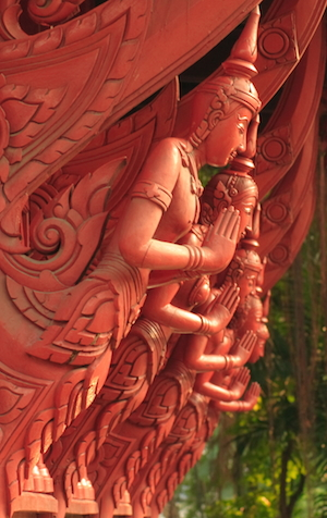 Thai house carvings, Chulalongkorn University